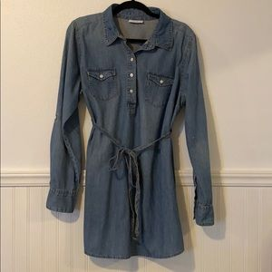LIZ LANGE Maternity Denim Tunic Shirt XL